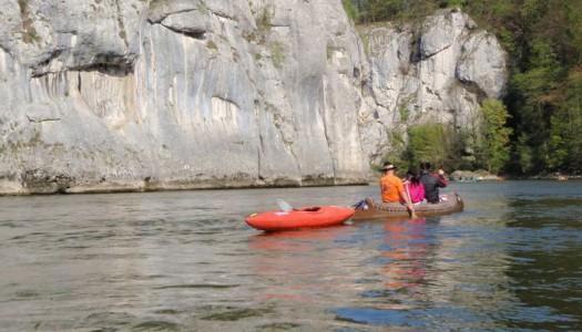 Anpaddeln auf der Donau